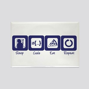 Sleep- Code- Eat- Repeat Rectangle Magnet