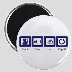 Sleep- Code- Eat- Repeat Magnet
