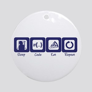 Sleep- Code- Eat- Repeat Ornament (Round)