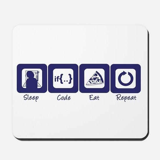 Sleep- Code- Eat- Repeat Mousepad