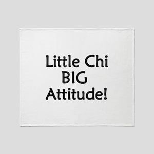 Little Chi, Big Attitude Throw Blanket