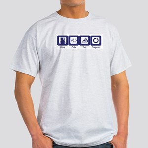 Sleep- Code- Eat- Repeat Ash Grey T-Shirt