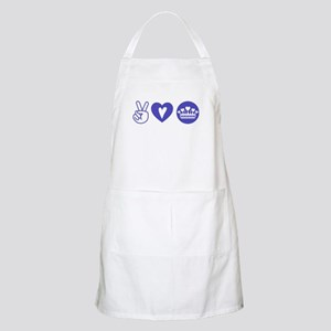 Peace Love Heart Princess Crown Apron