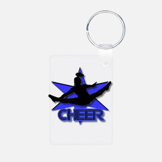 Cheerleader in blue Keychains