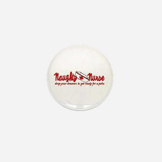 Naughty Nurse Mini Button