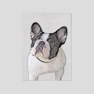 French Bulldog (Brindle Pied) 5'x7'Area Rug