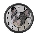 French Bulldog (Brindle Pied) Large Wall Clock