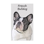 French Bulldog (Brindle Pied) Sticker (Rectangle)