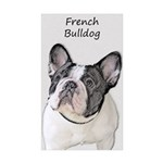 French Bulldog (Brindle Sticker (Rectangle 50 pk)