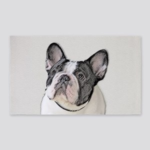 French Bulldog (Brindle Pied) Area Rug