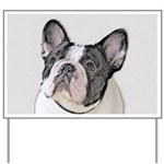 French Bulldog (Brindle Pied) Yard Sign