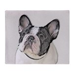 French Bulldog (Brindle Pied) Throw Blanket