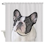 French Bulldog (Brindle Pied) Shower Curtain