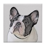French Bulldog (Brindle Pied) Tile Coaster