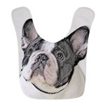 French Bulldog (Brindle Pied) Polyester Baby Bib