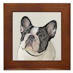 French Bulldog (Brindle Pied) Framed Tile