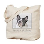 French Bulldog (Brindle Pied) Tote Bag