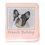 French Bulldog (Brindle Pied) baby blanket