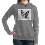 French Bulldog (Brindle Women's Hooded Sweatshirt