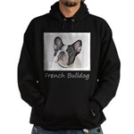 French Bulldog (Brindle Pied) Hoodie (dark)