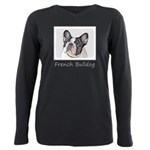 French Bulldog (Brindle Plus Size Long Sleeve Tee