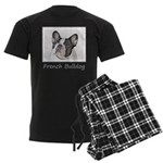 French Bulldog (Brindle Pied) Men's Dark Pajamas