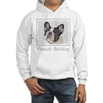 French Bulldog (Brindle Pied) Hooded Sweatshirt