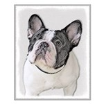 French Bulldog (Brindle Pied) Small Poster