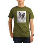 French Bulldog (Brind Organic Men's T-Shirt (dark)