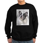 French Bulldog (Brindle Pied) Sweatshirt (dark)