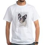 French Bulldog (Brindle Pied) White T-Shirt