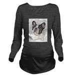 French Bulldog (Brin Long Sleeve Maternity T-Shirt