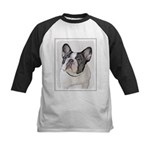 French Bulldog (Brindle Pied) Kids Baseball Jersey