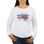 America Women's Long Sleeve T-Shirt