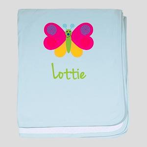 Lottie The Butterfly baby blanket