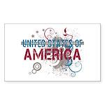 America Sticker (Rectangle 10 pk)