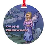 Happy Halloween Tilly Fairy Round Ornament