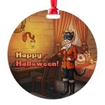 Happy Halloween Tilly Cat Round Ornament