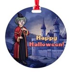 Happy Halloween Baba Tilly Round Ornament