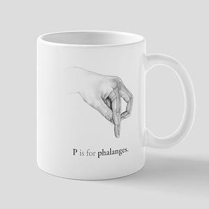 P is for Phalanges Mug