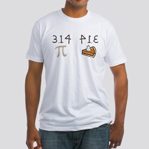 Pi vs Pie Fitted T-Shirt