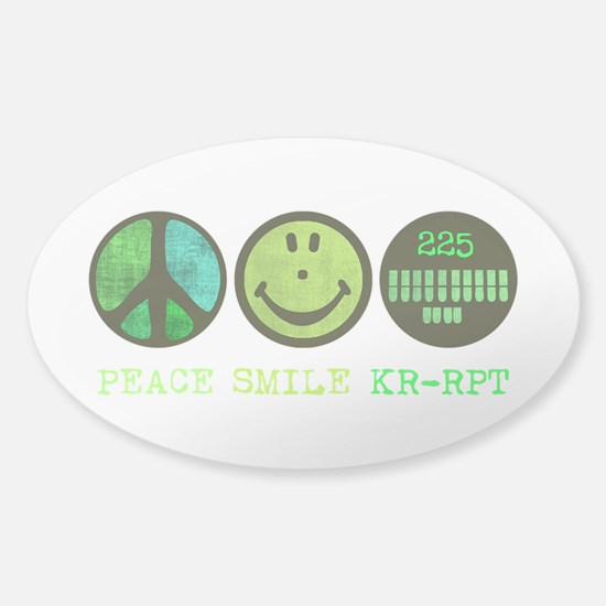 Peace Smile 225 Sticker (Oval)