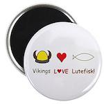 """Vikings Love Lutefisk 2.25"""" Magnet (10 pack)"""