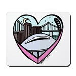 New Orleans Valentine's Candy Heart Mousepad