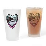 New Orleans Valentine's Candy Heart Drinking Glass