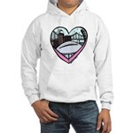 New Orleans Valentine's Candy Heart Hooded Sweatsh