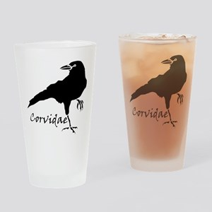 Corvidae Drinking Glass