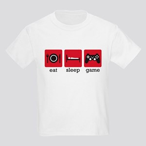 Eat Sleep Game Kids Light T-Shirt