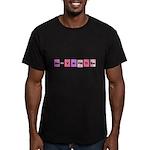 Geek Be My Valentine Men's Fitted T-Shirt (dark)