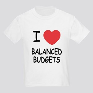 I heart balanced budgets Kids Light T-Shirt